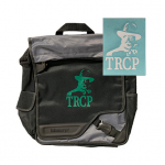 TRCP laptop bag and white decal sticker
