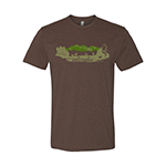 Wake The Woods T-shirt (Color: Brown)